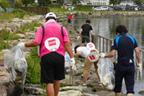 Cleanup Activity Along Lake Biwa