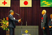 Japanese Red Cross Society gave Lapis semiconductor Miyazaki a Golden Merit Award